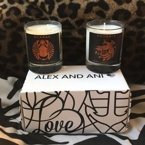 Alex and Ani Phoenix and Scarab Candles